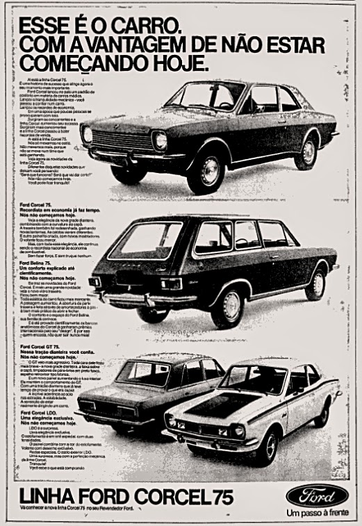 ford. brazilian advertising cars in the 70. os anos 70. história da década de 70; Brazil in the 70s; propaganda carros anos 70; Oswaldo Hernandez;