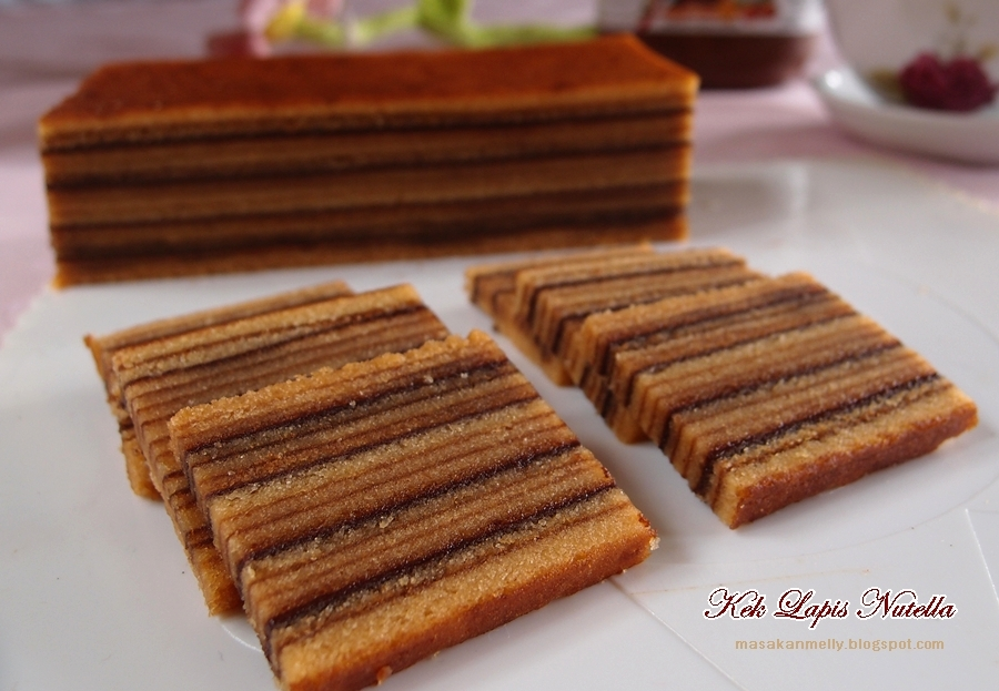 RESEPI KEK LAPIS SARAWAK NUTELLA Resep Kue Kering Terbaru