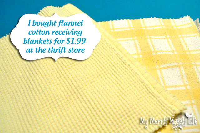 Buy Flannel From the Thrift Store to Use as Paper Towels