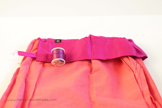 Turn a Drawstring Waist Into An Elastic Waist Tutorial by  Make it Handmade