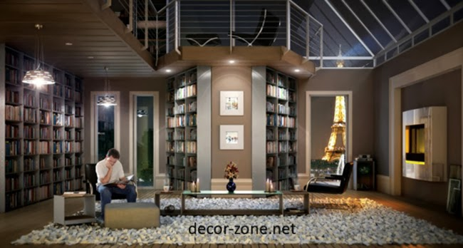 Modern Home Ideas Interesting Modern Home Library Design Ideas Decorating Inspiration