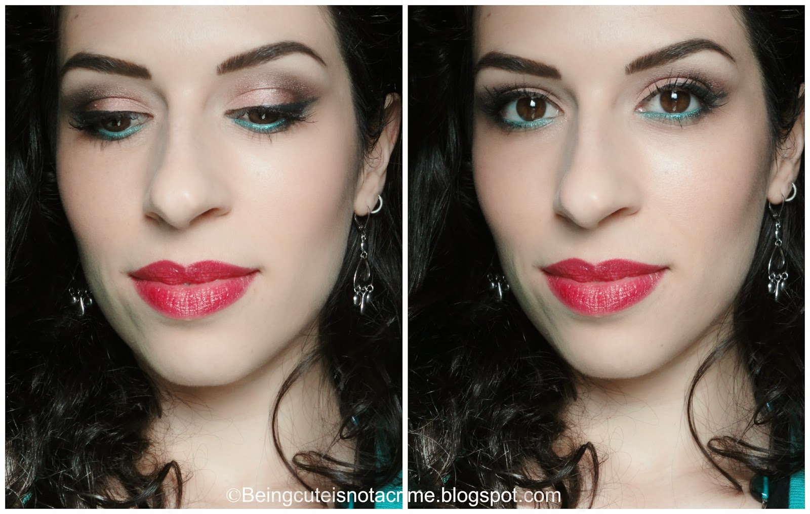 http://beingcuteisnotacrime.blogspot.nl/2014/04/earth-tones-and-aqua-green-make-up-look.html