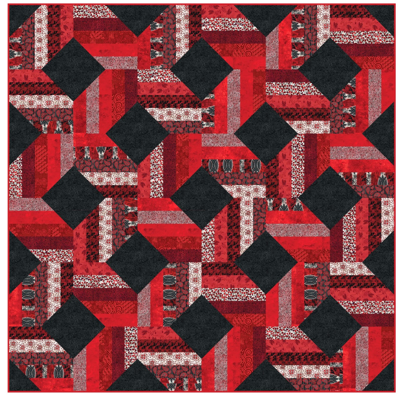 Quilt Patterns 4 Different Fabrics : Inspired by Fabric: Exclusive FREE Quilt Pattern