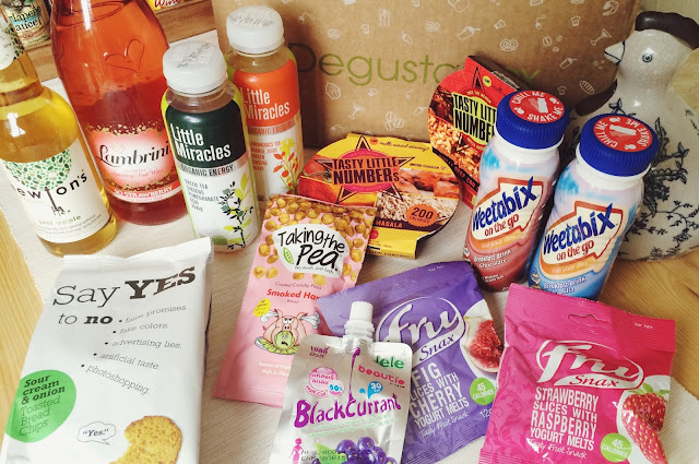 Degustabox July review, food bloggers, FashionFake