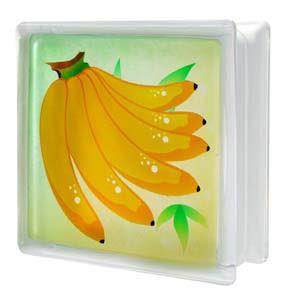 บล็อกแก้ว กล้วย