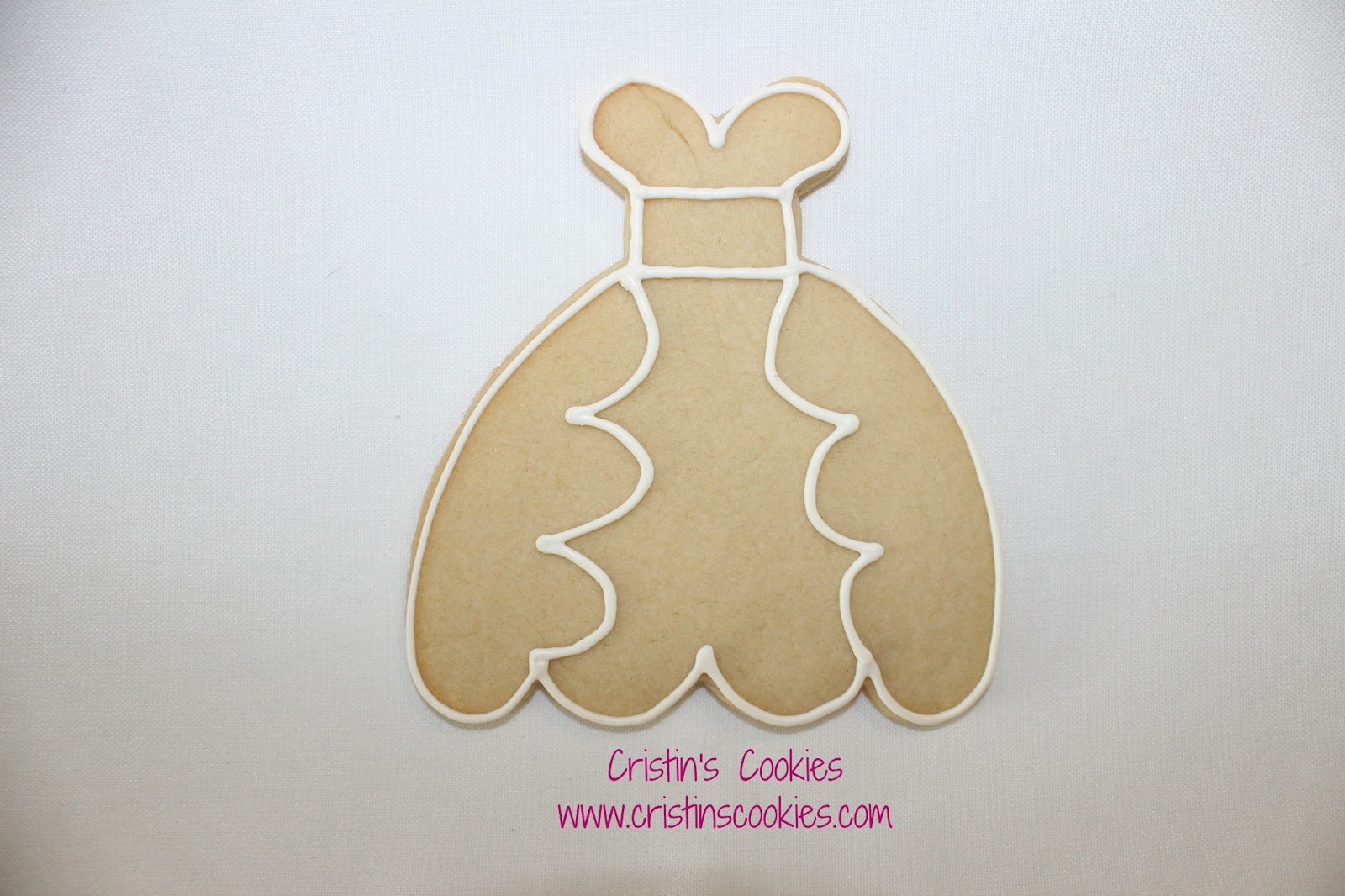wedding dress cookies and new cookie wedding dress cookie cutter for my wedding dress cookies here s one of them outlined and ready to decorate If you d like to copy it just right click on the photo and save it to