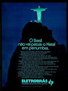 Eletrobrás, Energia elétrica, 1974. década de 70. os anos 70; propaganda na década de 70; Brazil in the 70s, história anos 70; Oswaldo Hernandez;