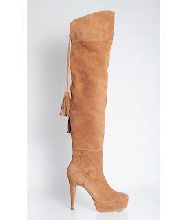 cizme online peste genunchi din piele naturala maro