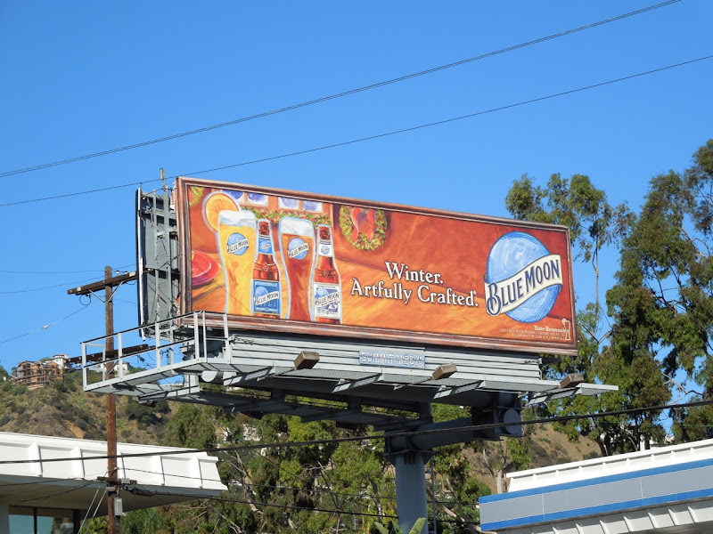 Blue Moon Winter Artfully crafted billboard