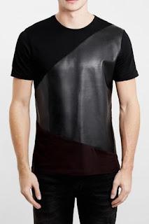 Topman Trim Fit Asymmetrical Panel T-Shirt