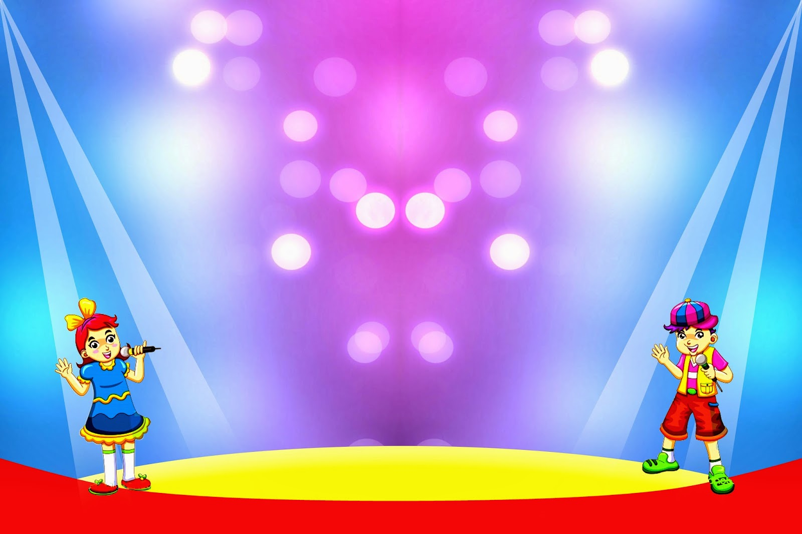 Backdrop panggung pentas seni / lomba / pelepasan siswa / perpisahan 1