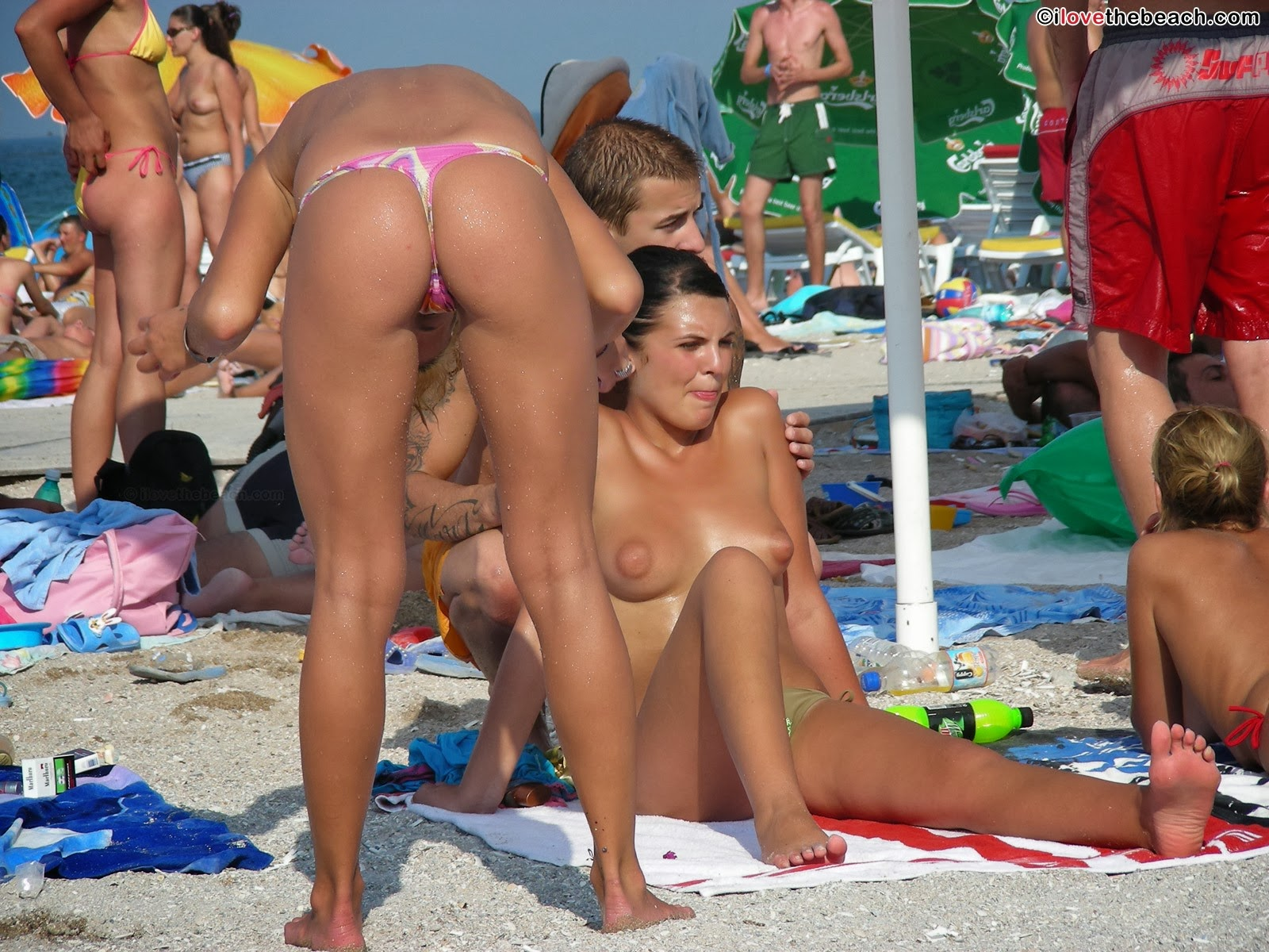 Bend Over at Topless Beach