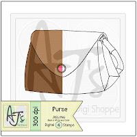 Purse Digital Stamp