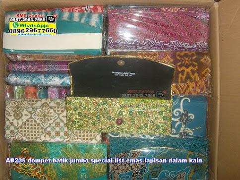 dompet batik jumbo special list emas lapisan dalam kain murah