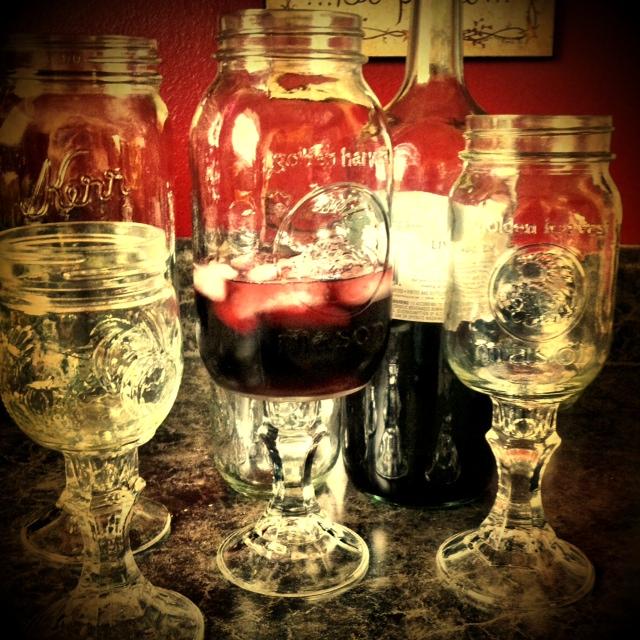 The Tickled Herring Redneck Wine Glasses Using Mason Jars