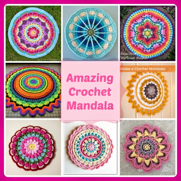... crochet mandalas. Fabulous and free crochet patterns from talented