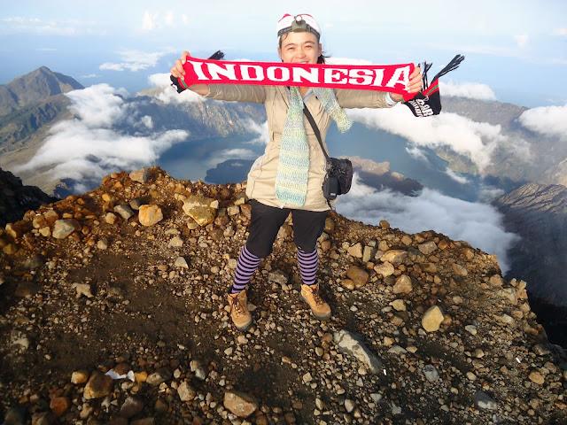 Summit of Mount Rinjani 3726 meter altitude