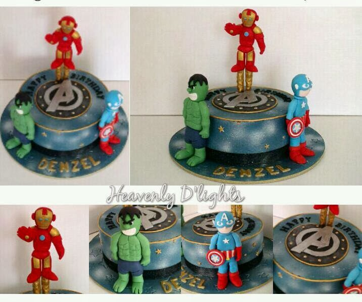 Heavenly Dlights Avenger Themed Birthday Cake for Denzel