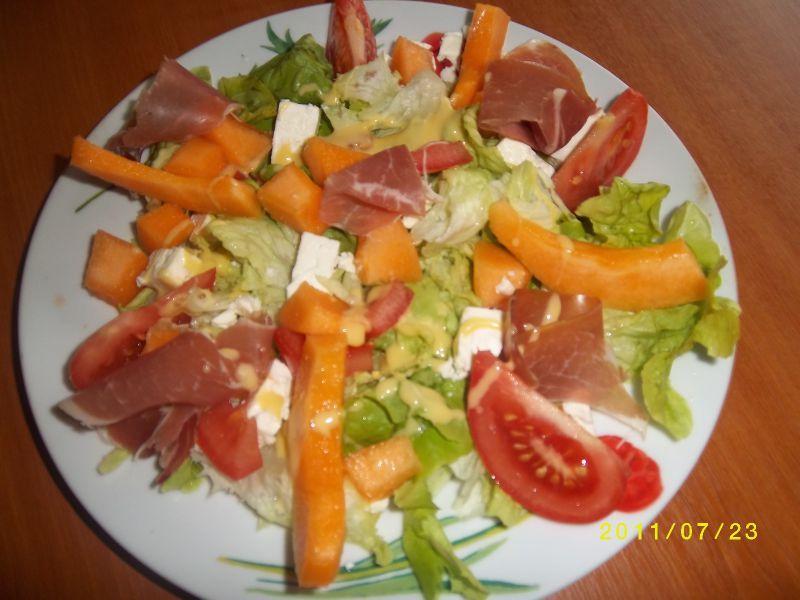 Salade site d di pour femme - Melon jambon cru presentation ...
