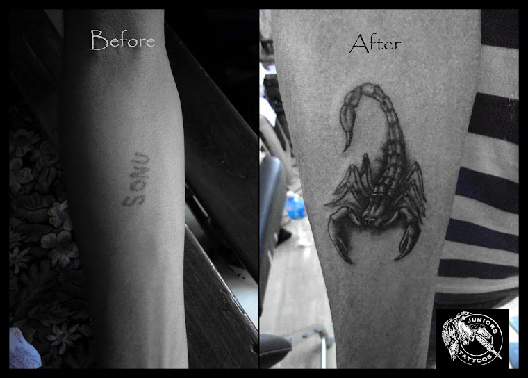Scorpio Cover up tattoo
