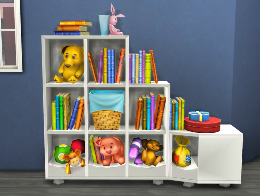 Very Impressive portraiture of My Sims 4 Blog: TS3 Generations Bookcase Conversion by Mysimlifefou with #B9A112 color and 1039x783 pixels