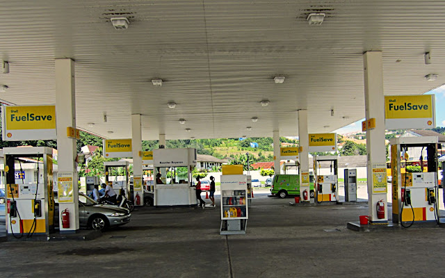 gas station in Malaysia