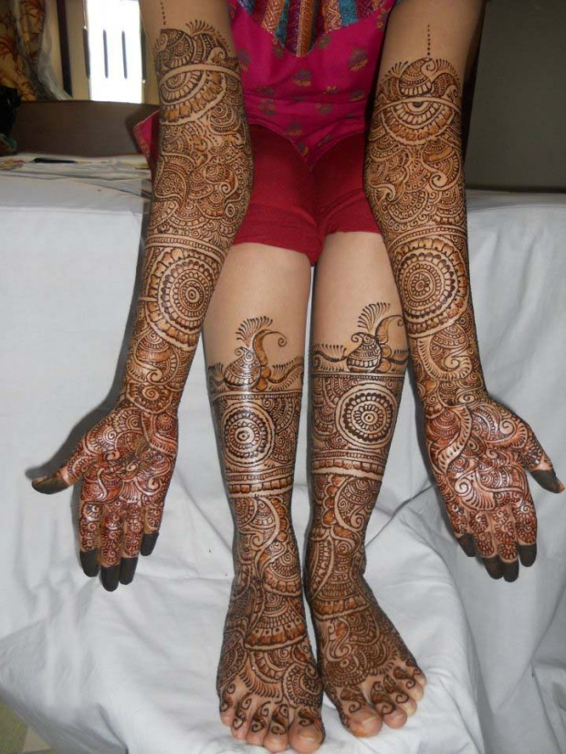 Full Leg Mehndi : Indian pakistani mehndi design for hands and feet eid