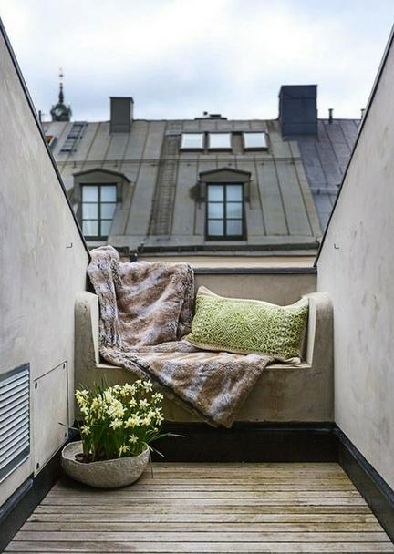 La chica del malet n terrazas en la ciudad - Muebles para terraza pequena ...