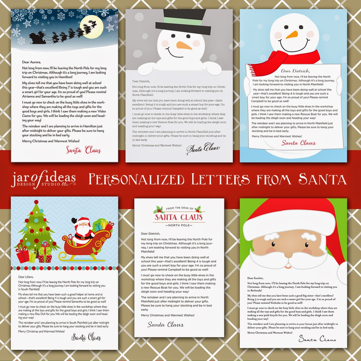 Jar of ideas every child will be so excited to get their very own personalized letter from santa this holiday season each letter will be printed with your details and spiritdancerdesigns Choice Image