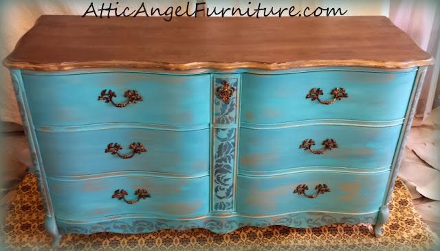 http://www.atticangelfurniture.com/beforeandafter/turquoise-dresser/