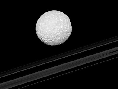 Mimas The Death Star Saturnian Moon Looks Kind Funny From Side