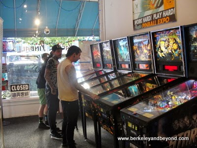 gallery at Pacific Pinball Museum in Alameda, California