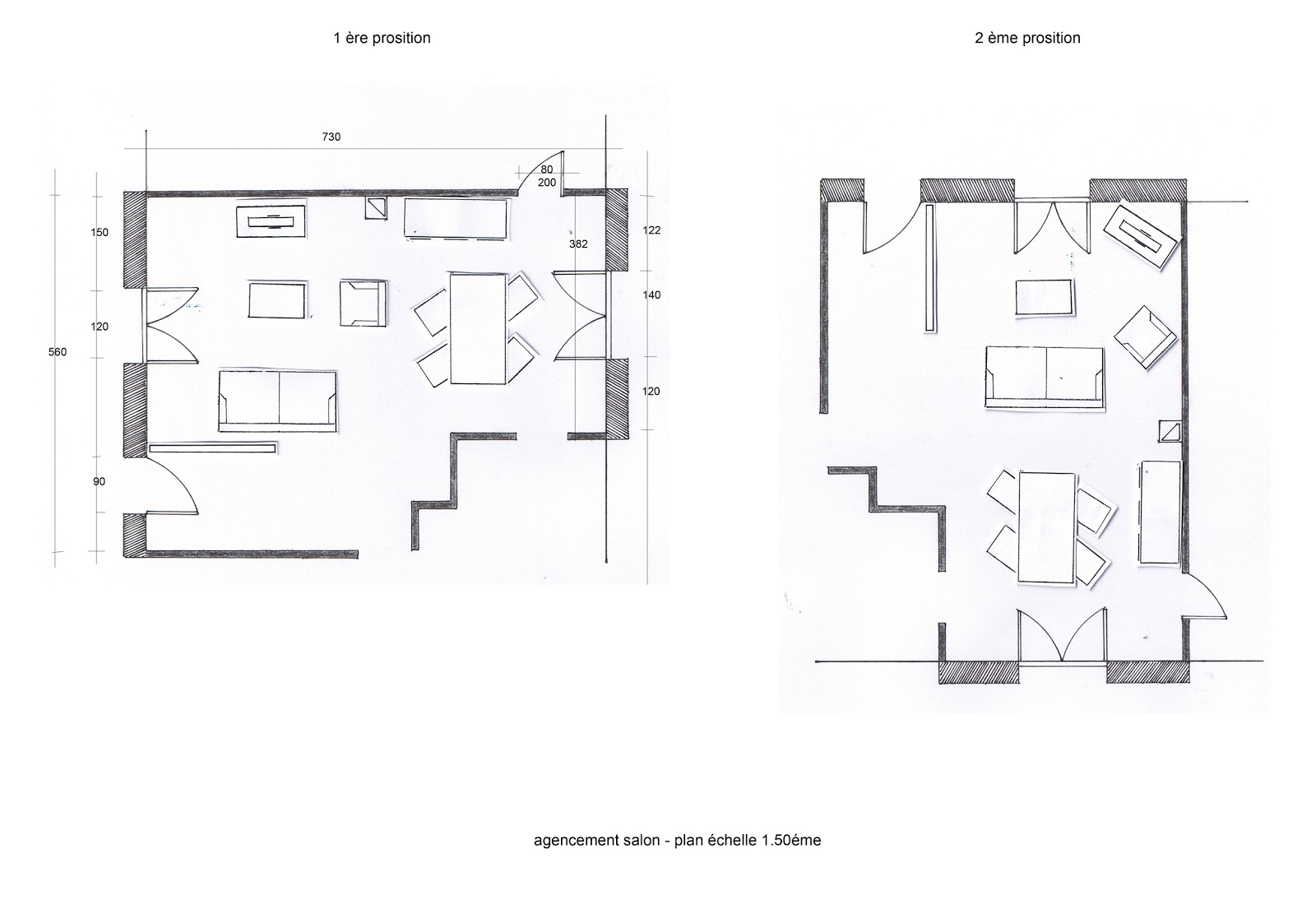 Home d co d coration d 39 int rieur id e d co et tude pour l 39 am nagem - Plan amenagement salon ...