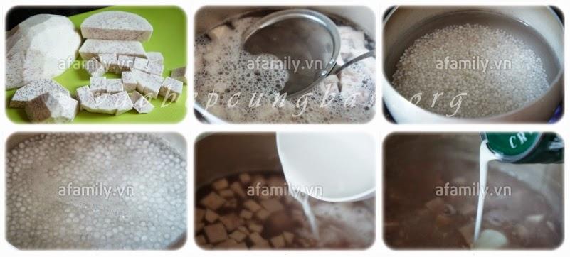 Cách nấu chè khoai môn bột báng ngon khó chối từ 1