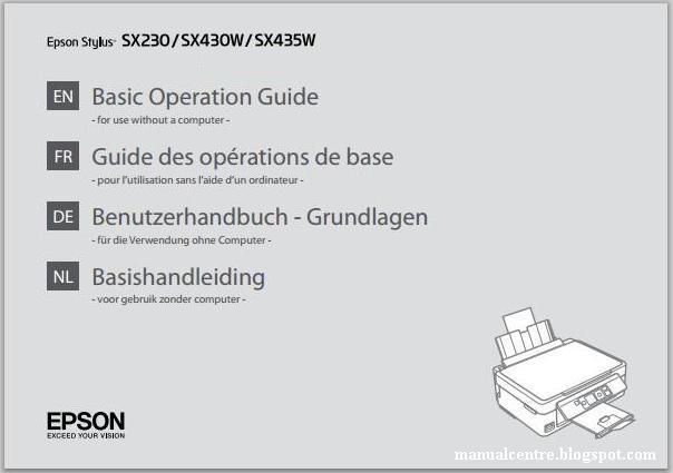 Epson Stylus SX435W Manual