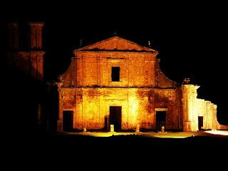 Espetáculo Som e Luz, São Miguel das Missões - Ruínas de São Miguel - Fachada da Igreja de São Miguel Arcanjo.