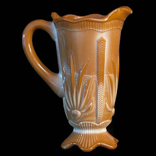 Antique EAPG Chocolate Cactus pitcher