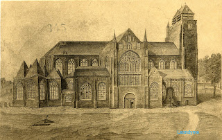 De Sint-Salvatorskathedraal in 1802