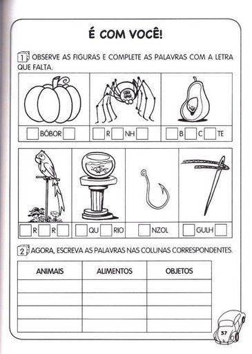 ATIVIDADES PORTUGUES 1   ANO DO ENSINO FUNDAMENTAL