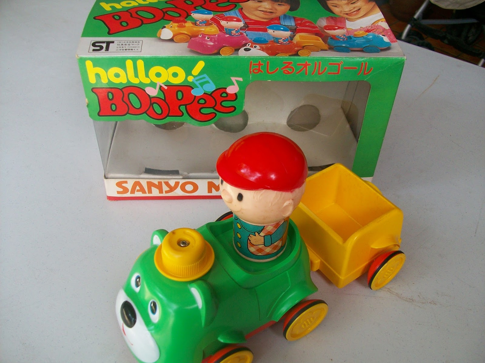 mainan bayi atau anak2 di bawah umur 5 tahun ini unik mainan ini diproduksi oleh perusahaan sanyo japan yang biasa memproduksi elektronik