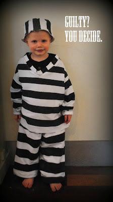 diy jailbird costume