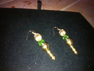 Nancy 14 K Gold Peridot Earring