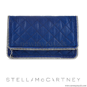 Crown Princess Victoria style Stella McCartney-Falabella Shaggy Deer Foldover Clutch