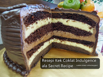 Resepi Kek Coklat Indulgence ala Secret Recipe