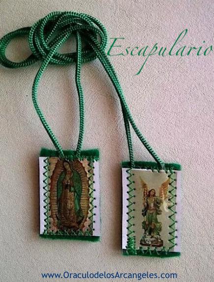 Escapulario de la Virgen de Guadalupe, La Guadalupana de México y Arcángel Rafael