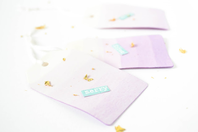 pastel labels, step by step diy tutorial