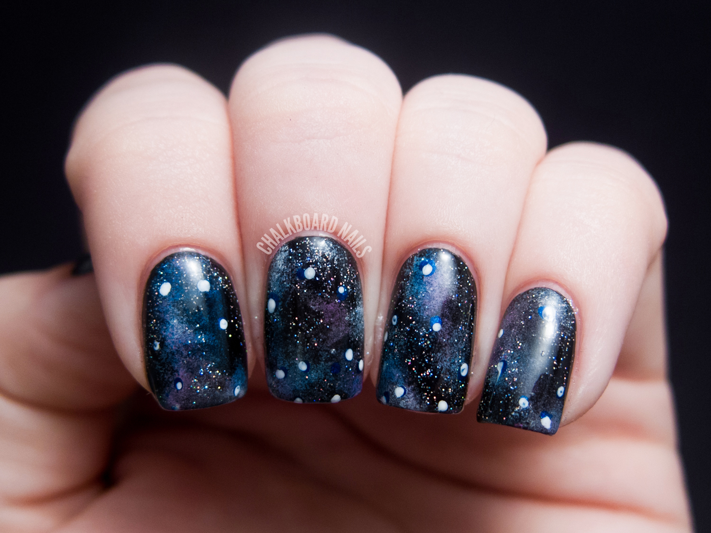 Into the Glitterverse: Galaxy Nails  Chalkboard Nails  Nail Art Blog