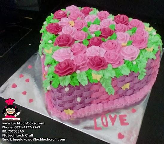 Kue tart bunga cantik romantis surabaya - sidoarjo