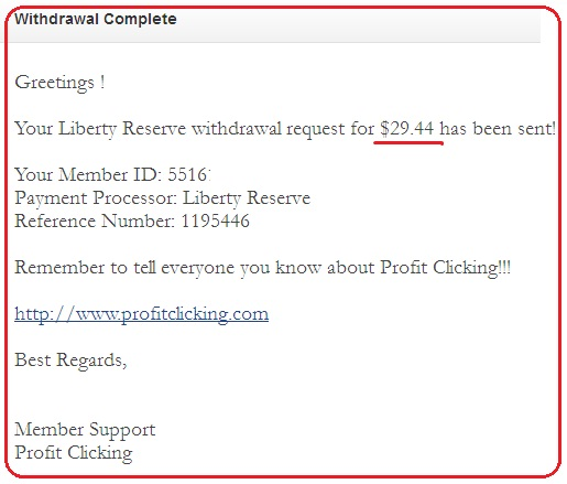 payment proof profitclicking