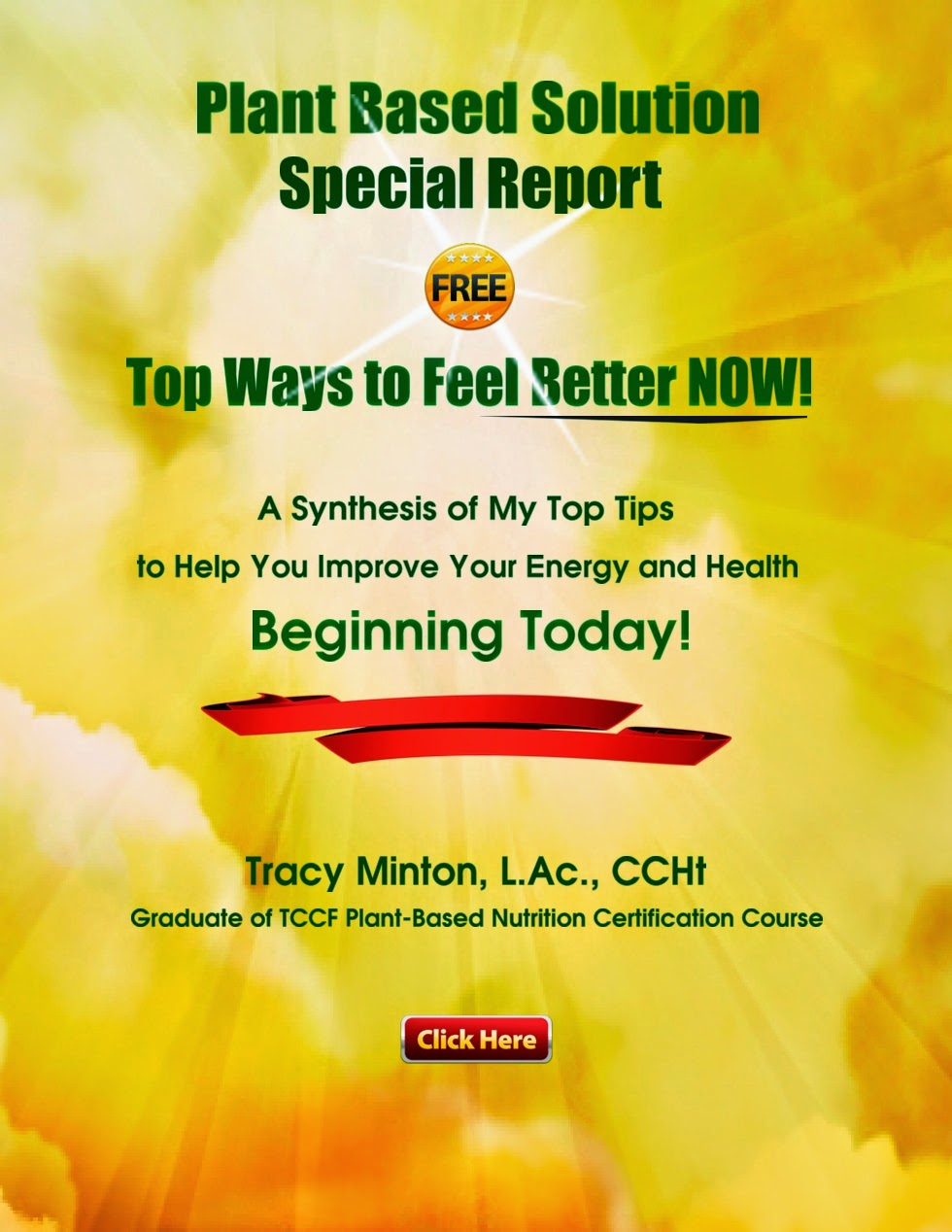 FREE! Top Tips to Improve Your Energy & Health